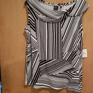 Rafaella sleeveless top Black and White